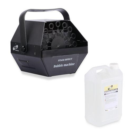 ETEC Seifenblasenmaschine Bubble E500 mit Seifenblasenfluid Konzentrat für 5 Liter
