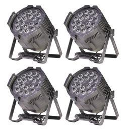 4x ETEC LED PAR 64 18x10W RGBWA 5in1 Scheinwerfer Floorspot